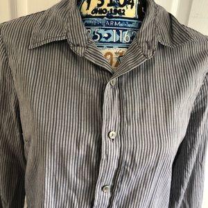 Fresh Produce Cotton Striped Button Down Shirt Top